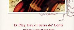 Domenica 18 Febbraio IX Edizione Play Day_ Centenaria Società Concertistica